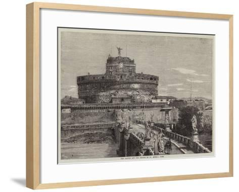 The Castle and the Bridge of St Angelo, Rome-Richard Principal Leitch-Framed Art Print