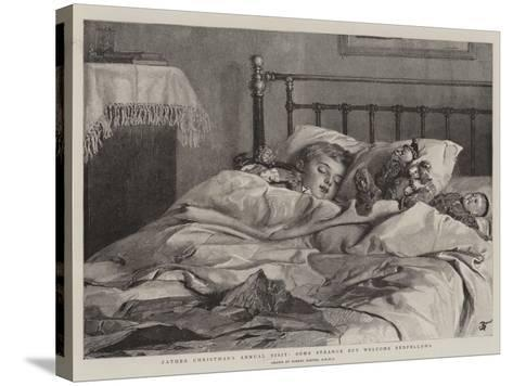 Father Christmas's Annual Visit, Some Strange But Welcome Bedfellows-Robert Barnes-Stretched Canvas Print