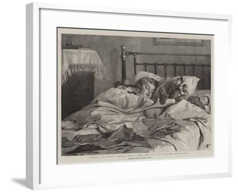 Father Christmas's Annual Visit, Some Strange But Welcome Bedfellows-Robert Barnes-Framed Art Print