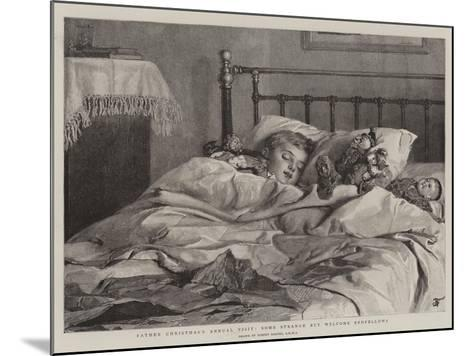 Father Christmas's Annual Visit, Some Strange But Welcome Bedfellows-Robert Barnes-Mounted Giclee Print