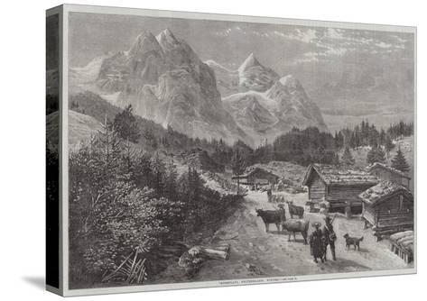 Rosenlaui, Switzerland, Winter-Richard Principal Leitch-Stretched Canvas Print