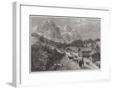 Rosenlaui, Switzerland, Winter-Richard Principal Leitch-Framed Art Print