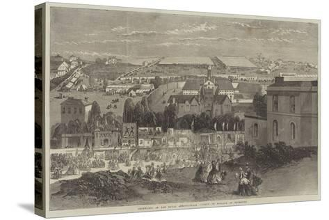Showyards of the Royal Agricultural Society of England at Plymouth-Richard Principal Leitch-Stretched Canvas Print