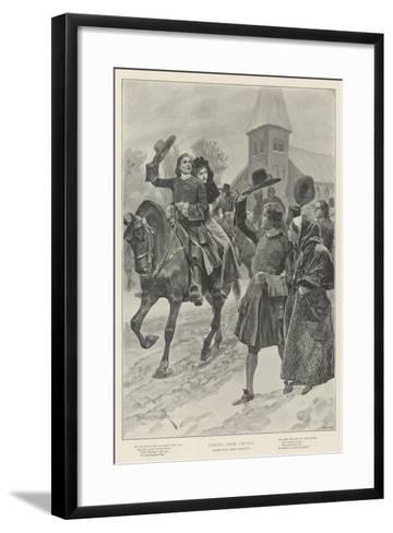 Coming from Church-Richard Caton Woodville II-Framed Art Print