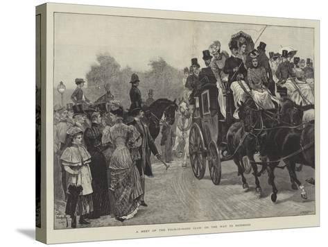 A Meet of the Four-In-Hand Club, on the Way to Richmond-Richard Caton Woodville II-Stretched Canvas Print