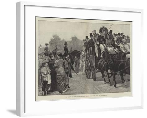 A Meet of the Four-In-Hand Club, on the Way to Richmond-Richard Caton Woodville II-Framed Art Print