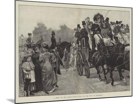 A Meet of the Four-In-Hand Club, on the Way to Richmond-Richard Caton Woodville II-Mounted Giclee Print