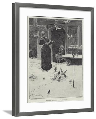 Christmas Morning, Early Breakfast-Richard Caton Woodville II-Framed Art Print