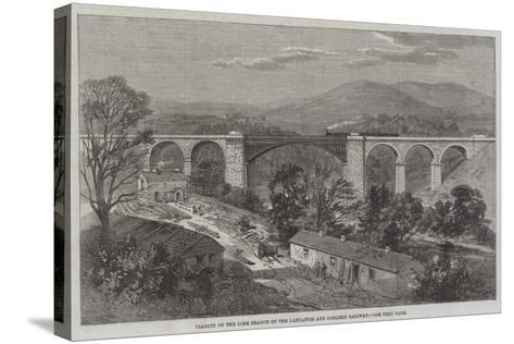 Viaduct on the Lime Branch of the Lancaster and Carlisle Railway-Richard Principal Leitch-Stretched Canvas Print