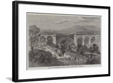 Viaduct on the Lime Branch of the Lancaster and Carlisle Railway-Richard Principal Leitch-Framed Art Print