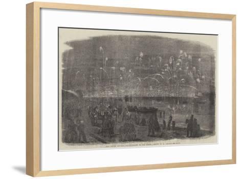 The Naval Review, Illumination of the Fleet-Richard Principal Leitch-Framed Art Print