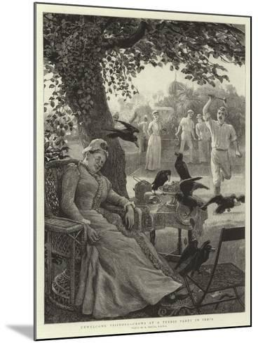 Unwelcome Visitors, Crows at a Tennis Party in India-Robert Barnes-Mounted Giclee Print