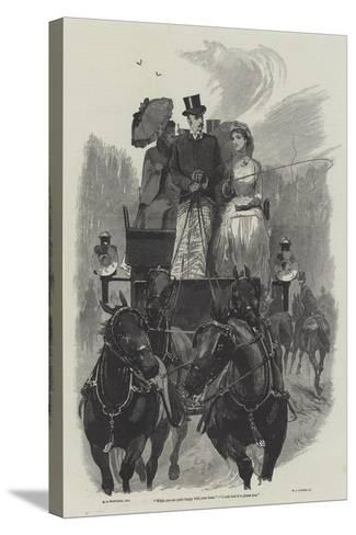 Eyre's Acquittal-Richard Caton Woodville II-Stretched Canvas Print