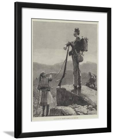 On the Look Out, Infantry Soldiers of the Greek Army-Richard Caton Woodville II-Framed Art Print