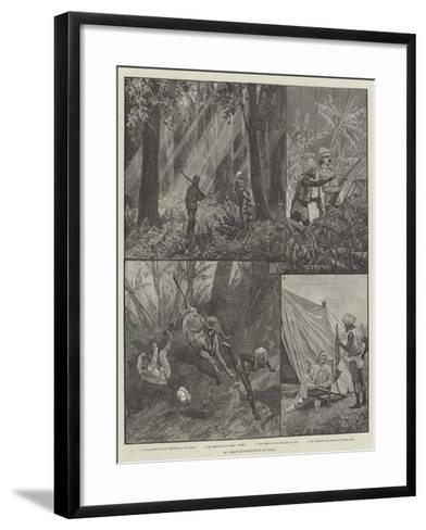 My First Buffalo-Hunt in India-Richard Caton Woodville II-Framed Art Print