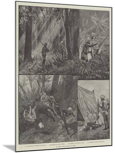 My First Buffalo-Hunt in India-Richard Caton Woodville II-Mounted Giclee Print