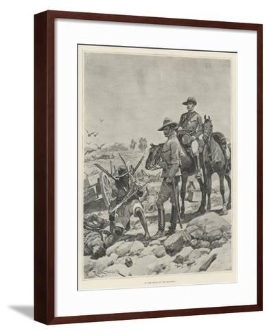 On the Track of the Matabele-Richard Caton Woodville II-Framed Art Print