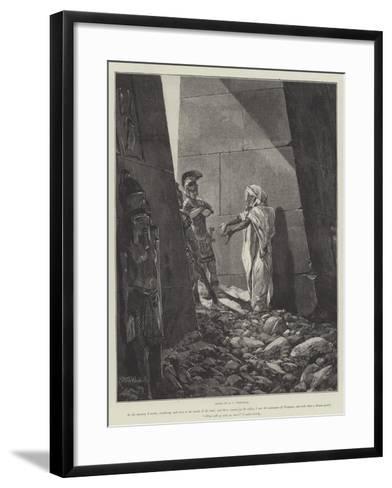 Cleopatra-Richard Caton Woodville II-Framed Art Print