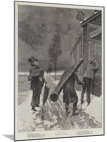 Sold!-Richard Caton Woodville II-Mounted Giclee Print