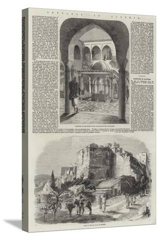Sketches in Algeria-Richard Principal Leitch-Stretched Canvas Print