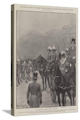 The Royal Review of Indian Troops before the Queen and Prince of Wales-Richard Caton Woodville II-Stretched Canvas Print