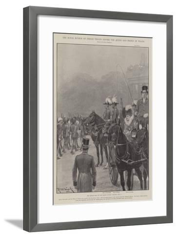 The Royal Review of Indian Troops before the Queen and Prince of Wales-Richard Caton Woodville II-Framed Art Print