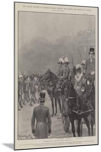 The Royal Review of Indian Troops before the Queen and Prince of Wales-Richard Caton Woodville II-Mounted Giclee Print