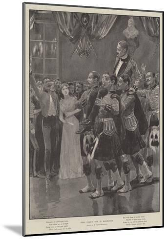 New Year's Eve in Barracks-Richard Caton Woodville II-Mounted Giclee Print