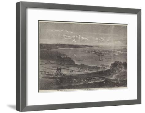 The Naval Review, the Flotilla of Gun-Boats Off the Motherbank-Richard Principal Leitch-Framed Art Print