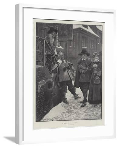 A Merry Christmas to Ye!-Richard Caton Woodville II-Framed Art Print