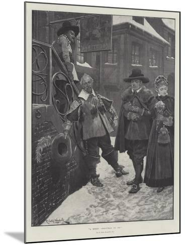 A Merry Christmas to Ye!-Richard Caton Woodville II-Mounted Giclee Print
