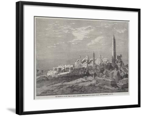 The Prince of Wales' Visit to Egypt, Carnac-Richard Principal Leitch-Framed Art Print