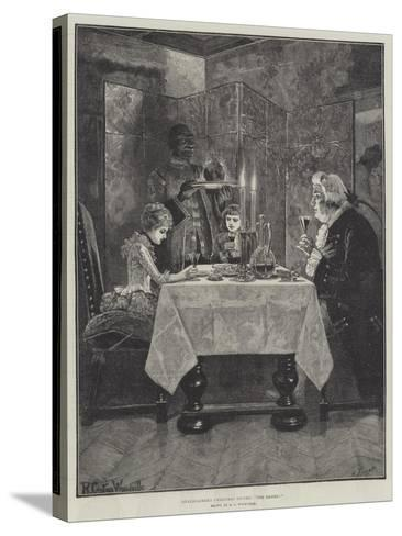 Grandfather's Christmas Dinner, The Ladies!-Richard Caton Woodville II-Stretched Canvas Print
