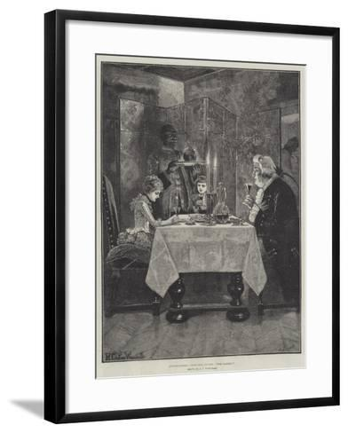 Grandfather's Christmas Dinner, The Ladies!-Richard Caton Woodville II-Framed Art Print