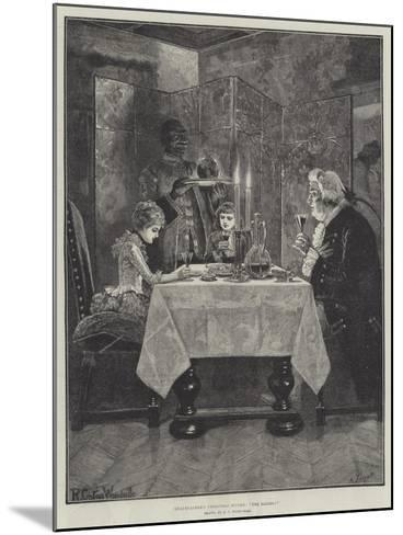 Grandfather's Christmas Dinner, The Ladies!-Richard Caton Woodville II-Mounted Giclee Print