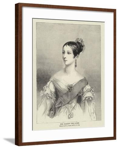 Her Majesty the Queen-Richard James Lane-Framed Art Print
