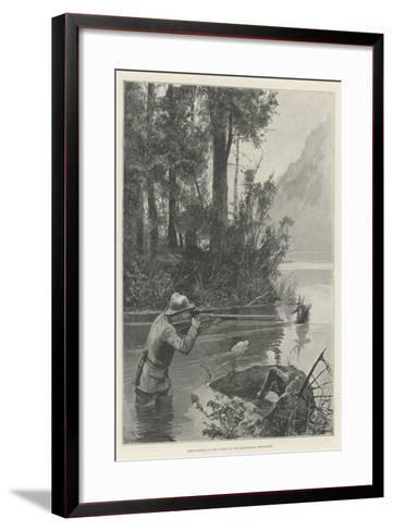 Deer-Hunting in the Forest of the Adirondack Mountains-Richard Caton Woodville II-Framed Art Print
