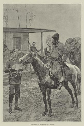 A Cossack Post on the Russo-Afghan Frontier-Richard Caton Woodville II-Stretched Canvas Print