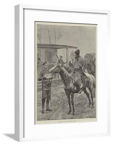 A Cossack Post on the Russo-Afghan Frontier-Richard Caton Woodville II-Framed Art Print