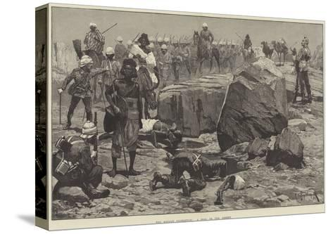The Soudan Expedition, a Pool in the Desert-Richard Caton Woodville II-Stretched Canvas Print