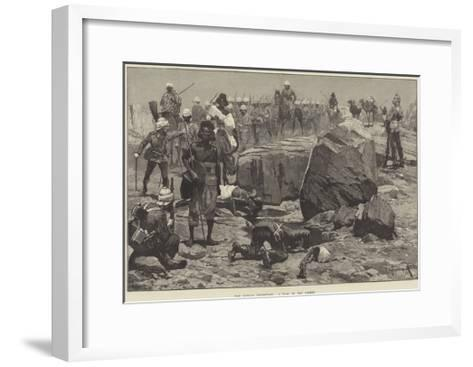 The Soudan Expedition, a Pool in the Desert-Richard Caton Woodville II-Framed Art Print