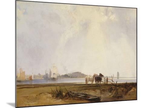 Landscape Near Quillebeuf, France, C.1824-25-Richard Parkes Bonington-Mounted Giclee Print