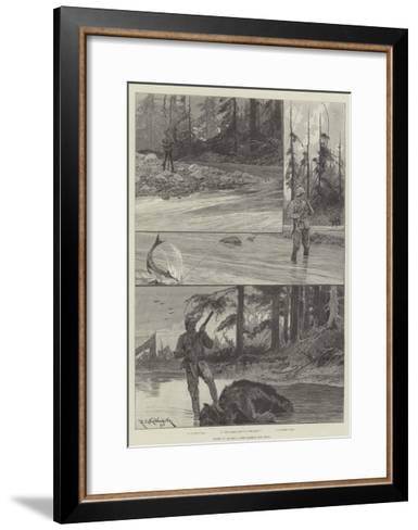 Sport in Alaska, with Salmon and Bear-Richard Caton Woodville II-Framed Art Print