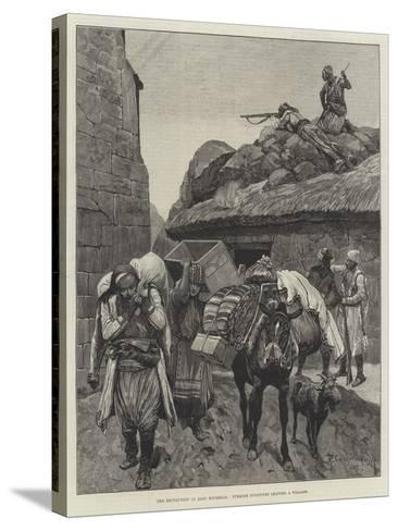 The Revolution in East Roumelia, Turkish Fugitives Leaving a Village-Richard Caton Woodville II-Stretched Canvas Print