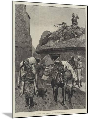 The Revolution in East Roumelia, Turkish Fugitives Leaving a Village-Richard Caton Woodville II-Mounted Giclee Print