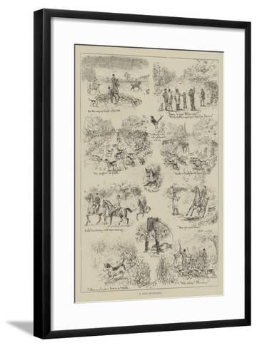 A Day's Cub-Hunting-S^t^ Dadd-Framed Art Print