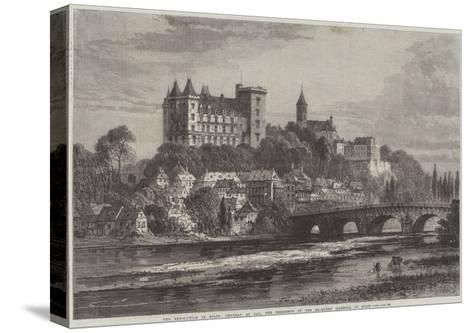 The Revolution in Spain, Chateau at Pau, the Residence of the Ex-Queen Isabella of Spain-Samuel Read-Stretched Canvas Print