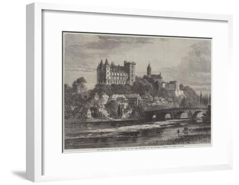 The Revolution in Spain, Chateau at Pau, the Residence of the Ex-Queen Isabella of Spain-Samuel Read-Framed Art Print