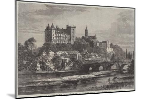 The Revolution in Spain, Chateau at Pau, the Residence of the Ex-Queen Isabella of Spain-Samuel Read-Mounted Giclee Print