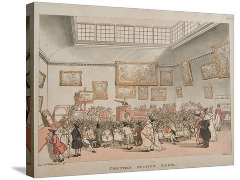 Christie's Auction Room, 1808- Rowlandson & Pugin-Stretched Canvas Print